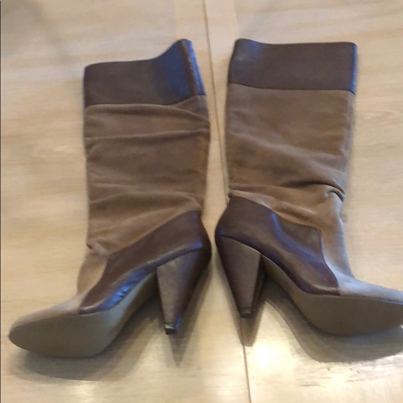 Bakers Shoes - Brown leather and suede boots